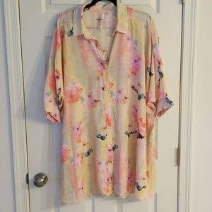 Melissa McCarthy by seven 1x floral blouse